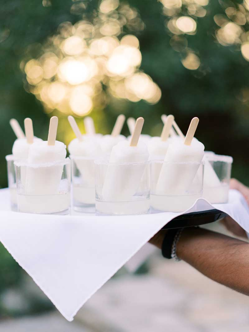 Cocktail popsicles are perfect for a summer company picnic.