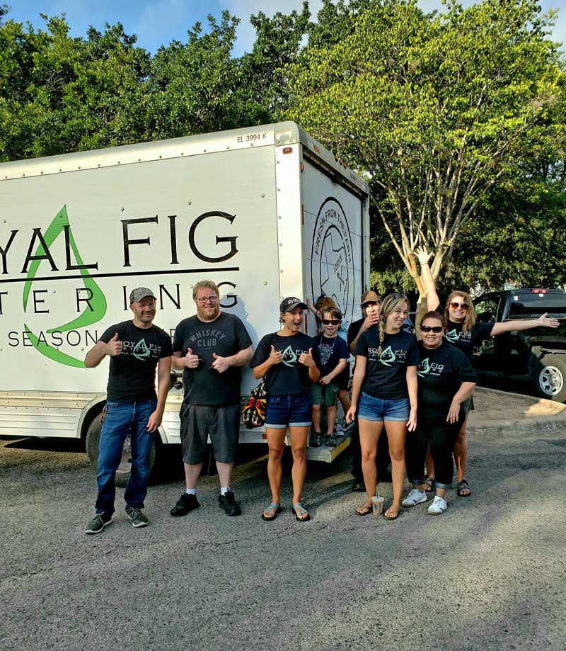 Royal Fig team in front of one of our delivery trucks